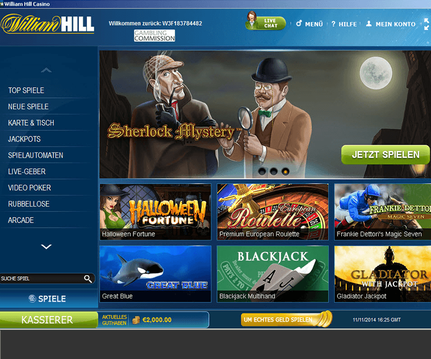 online william hill casino alle  spiele
