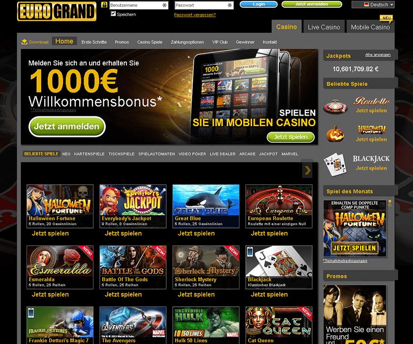 Eurogrand Casino Erfahrungen 2017