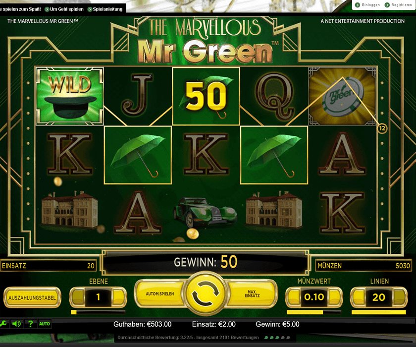 mr green casino slots